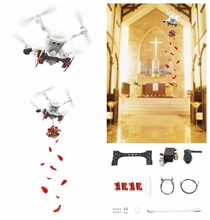 лучшая цена Phantom 4 Air-Dropping Thrower System for Deliver Remotely Celebration Wedding Gifts Rescue for DJI Phantom 4 /4 Pro/4 Pro V2.0