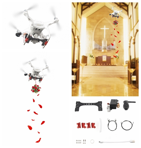 Phantom 4 Air Dropping Thrower System for Deliver Remotely Celebration Wedding Gifts Rescue for DJI Phantom 4 /4 Pro/4 Pro V2.0