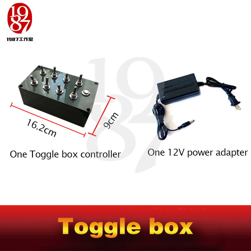 Image 5 - Room escape props toggle box real life chamber game all toggles in right directions to unlock escape takagism game jxkj1987-in Alarm System Kits from Security & Protection