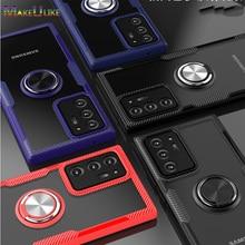 غلاف صلب من الأكريليك الشفاف مع حلقة لهاتف Samsung Galaxy Note 20 Ultra 10 Plus Lite 10 Plus 9 Note 20 Note10 Note9