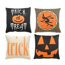 Linen Cushion Cover Decorative Halloween Pillow Case Pumpkin Ghosts Cushion Covers For Sofa Car Home Decor Throw Pillows Case цены