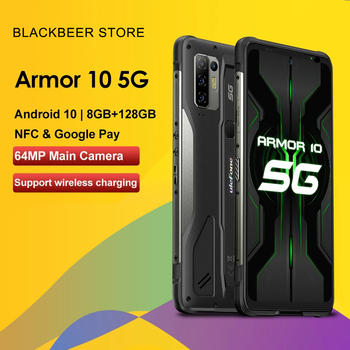 """Ulefone Armor 10 6.67""""Rugged 5G Smartphone Dimensity 800 Android 10 Mobile Phone 8GB+128GB IP68 Waterproof Cellphone 5800mAh NFC"""