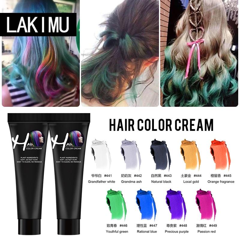 LAKIMU Hair Color Dye Fashion Unisex Molding Paste Hair Color Hair Paint Wax Easy To Wash Wax DIY Hair Color Wax Hair Colour