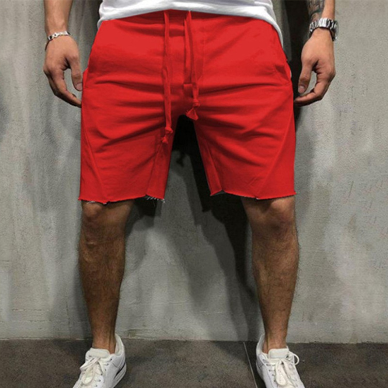 Men Casual Fashion Shorts Gyms Fitness Bodybuilding Hip-hop Knee Lenght Shorts Male Breathable Loose Shorts