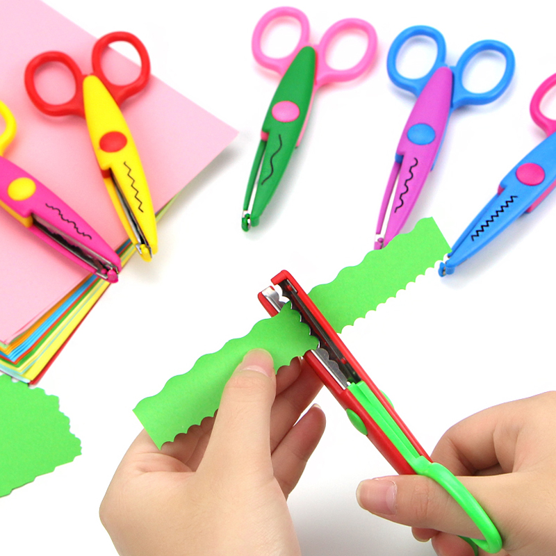 6 Pcs/lot Creative DIY Decorative Craft Scissors Album Lace Scissors Card Photo Pattern Scissors For Kids Craft