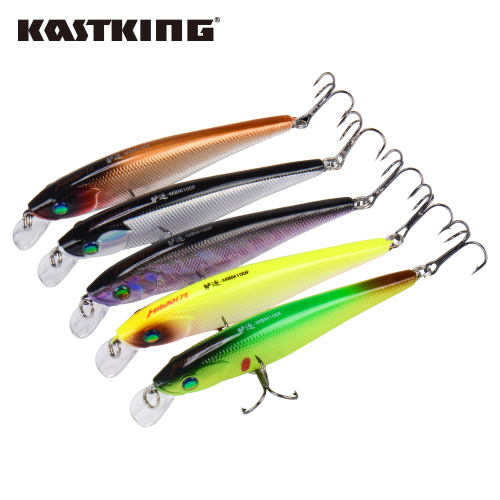 KastKing Minnow Fishing Lure Hard Bait 1PC 100mm 10g 3 Sharp Hooks Floating Jerk Bait title=