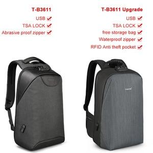 Image 5 - حقيبة ظهر للرجال من tigerنو مضادة للسرقة حقيبة ظهر للحاسوب المحمول مزودة بمنفذ USB حقائب مدرسية للمراهقين بدون مفتاح قفل TSA حقيبة ظهر مدرسية