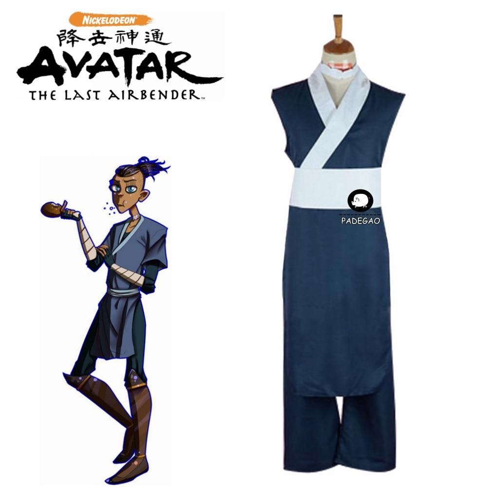 Free Shipping Cosplay Costume Avatar: The Last Airbender Sokka Anime Uniform Halloween Christmas Party