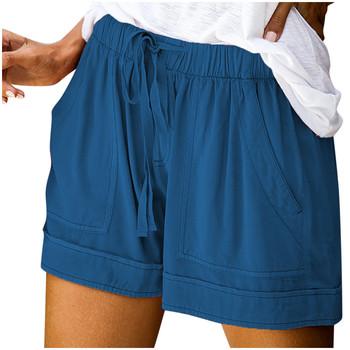 # PO wysokiej talii wygodne szorty Sexy Sport kobiety lato Fitness Running Gym Athletic sznurkiem Splice wygodne szorty szorty z kieszeniami tanie i dobre opinie WHooHoo Stałe Na co dzień CN (pochodzenie) Z elany LOOSE