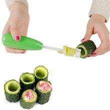 4 pz/set Frutta Verdura Core Scavatrice A Spirale Cutter Spiralizer Ripieno di Carne Strumento di Plastica Pomodoro Melanzane Cutter Da Cucina Accessori