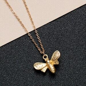 Chereda модное ожерелье с животными золото/серебро Летающая пчела кулон ожерелье для девочек Женский подарок на день рождения любовника