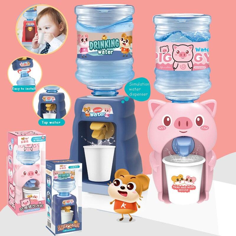 Милый дозатор воды для детей, игрушка для кухни, подарок, мини-питьевой фонтан холодного сока, молока, мультяшная свинья