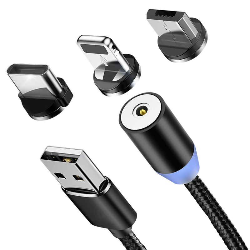 Magnetic Cable For IPhone Samsung Fast Charging Micro USB Cable Cord Magnet Charger USB Type C 1m 2 M Mobile Phone Cables