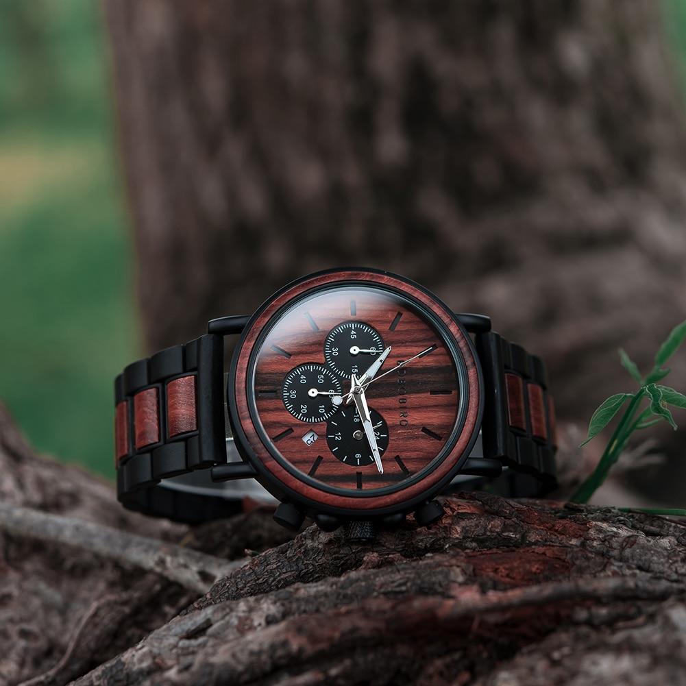 Ha95d6b9a2833477bbd26ff5a4da5e69a2 BOBO BIRD Wooden Watch Men erkek kol saati Luxury Stylish Wood Timepieces Chronograph Military Quartz Watches in Wood Gift Box