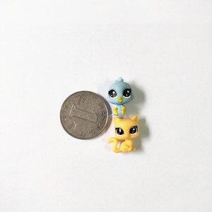 Image 2 - Figurines danimaux domestiques, jouet daction de marché, 50 pièces/sac 1 à 2cm, jouet chat mignon, cheval, lapin, enfant