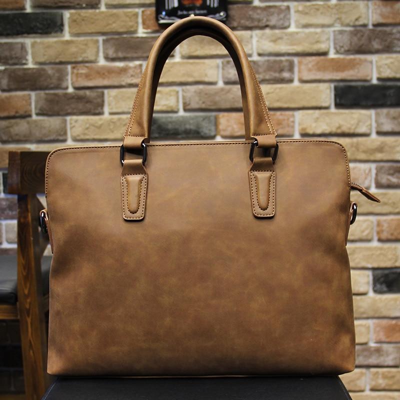 Genuine Leather Men's Handbag Business Shoulder Bag Multifunctional Briefcase Casual Computer Bag BW01-SB-stdgxx