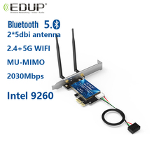 EDUP 9631 2.4Ghz 5Ghz  wireless network card integrated Bluetooth 5.0 PCI-E port 2*5dBi dual antenna support win10 64-bit system