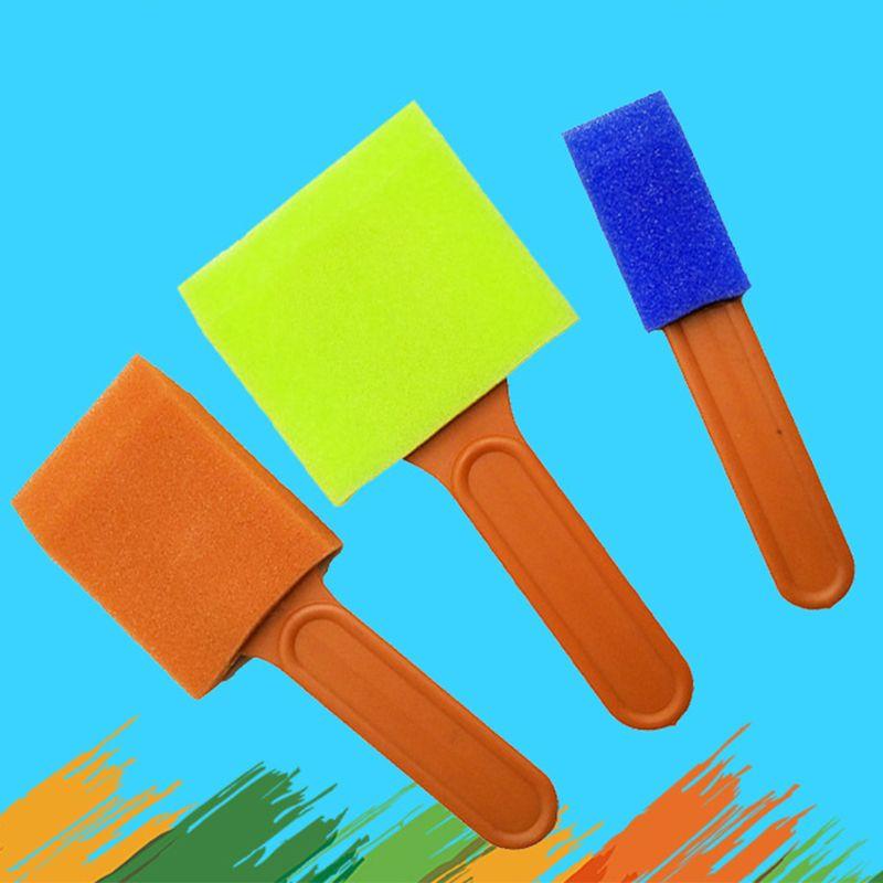 esponja pintura pincéis crianças kits de pintura
