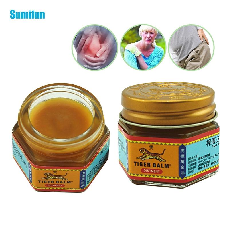 1 stücke 100% Original Rot/weiß Tiger Balm Salbe Thailand Painkiller Salbe Muscle Pain Relief Salbe Beruhigen juckreiz C102, c105