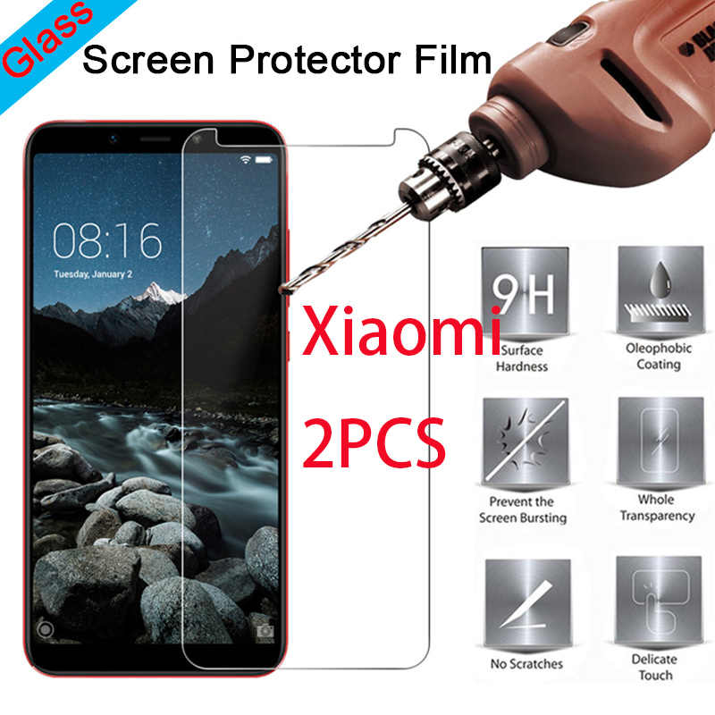 2pcs Glass for Xiomi Mi A1 A2 Lite 2 3 4 4i 4C 4S Toughed Front Film for Pocophone F1 Xiaomi Mi Tempered Glass Protective Film