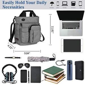Image 5 - Borsa A Tracolla da uomo, Multi funzionale Crossbody Messenger Bag Sacchetto di Affari della Cartella Sling Viaggio iPad Documenti Valigetta