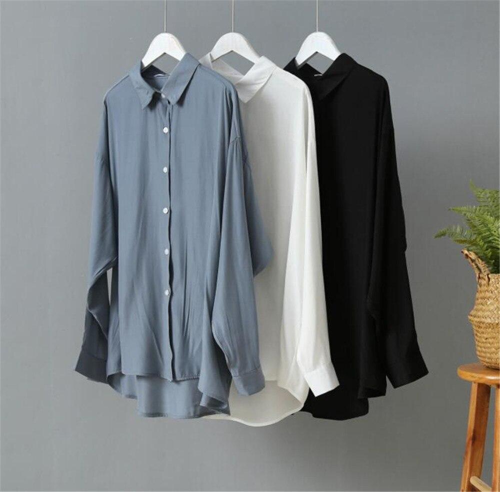 Spring Women Blouse 2020 Summer Blouse Korean Long Sleeve Womens Tops Blouses Vintage Woman Shirts Blusas Roupa Feminina Tops (1)