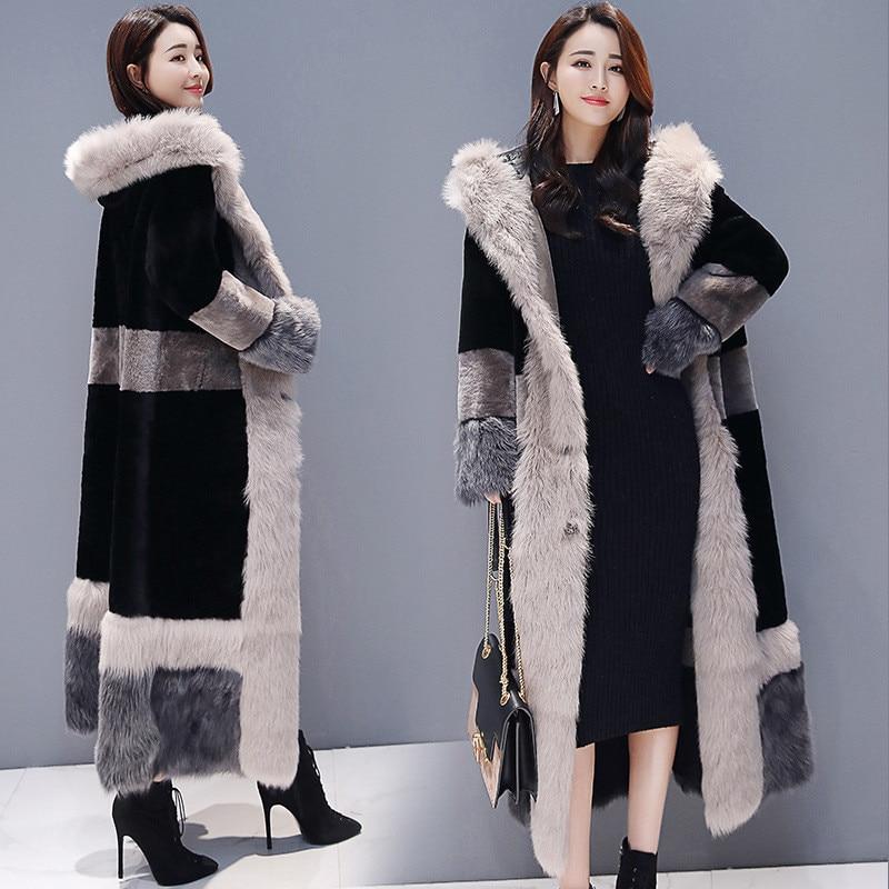 Women Faux Fur Coat 2018 Winter Plus Size Russian Thick Furry Jacket Cozy Maxi Fur Coat Fluffy Loose Warm Overcoats Long Coats