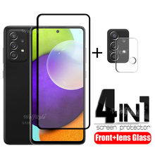 4-in-1 For Samsung Galaxy A52 Glass For Samsung A52 Screen Protector Full Tempered Glass For Samsung A71 A51 A72 A52 Lens Glass