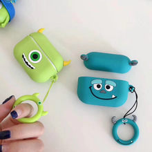Earphone Case for Airpods Pro Case Cute Silicone Cartoon Headphone/Earpods Case for Apple Air pods 3 Pro Cover Elf ball Keychain(China)