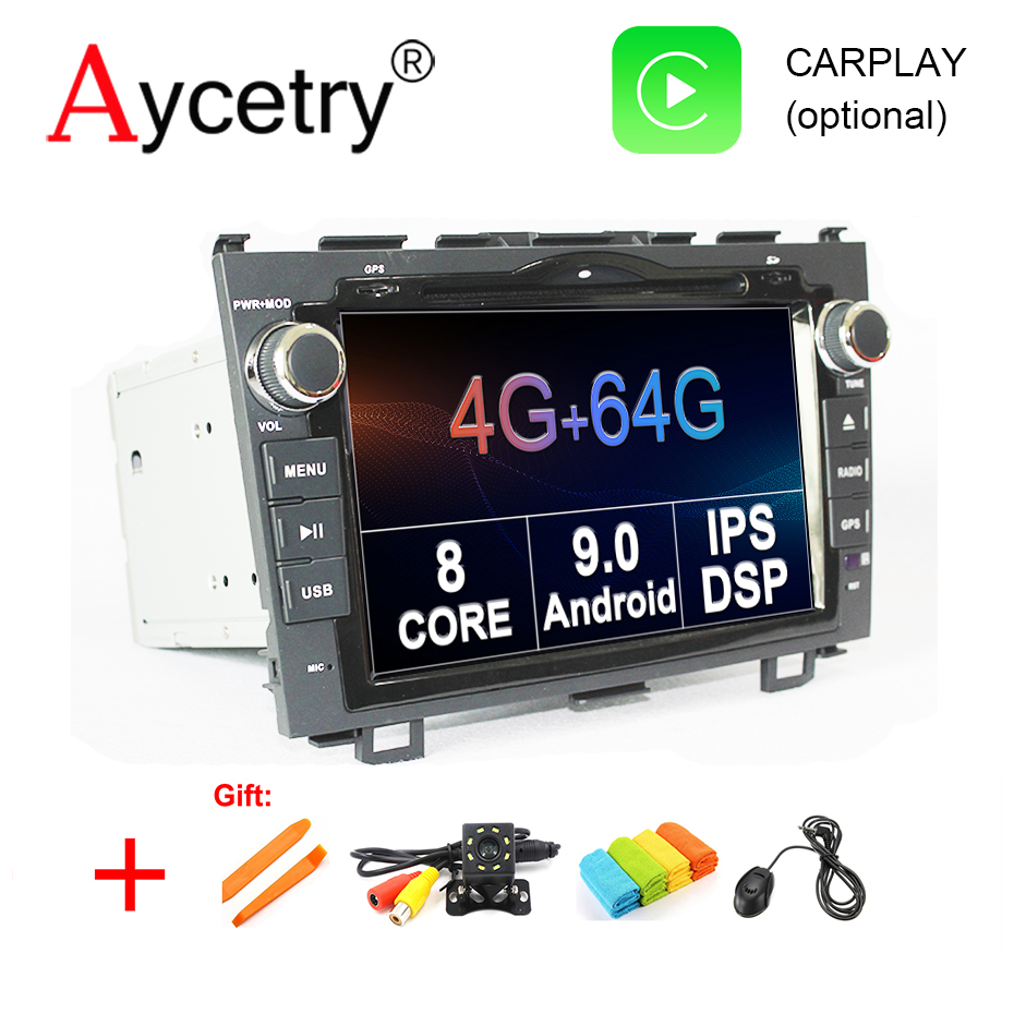 8 core 4G 64G 2 din Android 9.0 Car dvd multmedia player GPS navigation For Honda CRV C RV 2006 2011 car Radio wifi dvr obd2 dsp-in Car Multimedia Player from Automobiles & Motorcycles    1