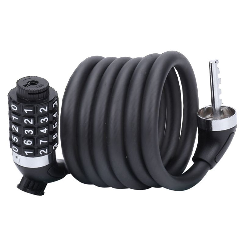 Bicycle Chain Lock With 5-Digit Resettable Number And Mounting Bracket title=