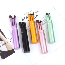 New 5pcs Travel Portable Mini Eye Makeup Brushes Set Smudge Eyeshadow Eyeliner Eyebrow Brush Lip Make Up Brush kit Professional