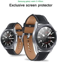 Glass For Samsung Galaxy Watch 3 45mm 41mm 46mm 42mm Gear S3 Frontier S2 Sport 3D HD Film Active 2 44mm 40mm Screen Protector cheap NoEnName_Null CN(Origin) Scratch Proof Tempered Glass FOR active2 40 44 41 42 43 45 mm smartwatch
