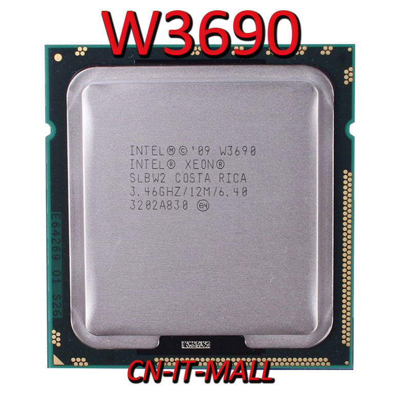 Pulled Xeon W3690 CPU 2.0GHz 12M 6 Core 12 ThreadsProcessor