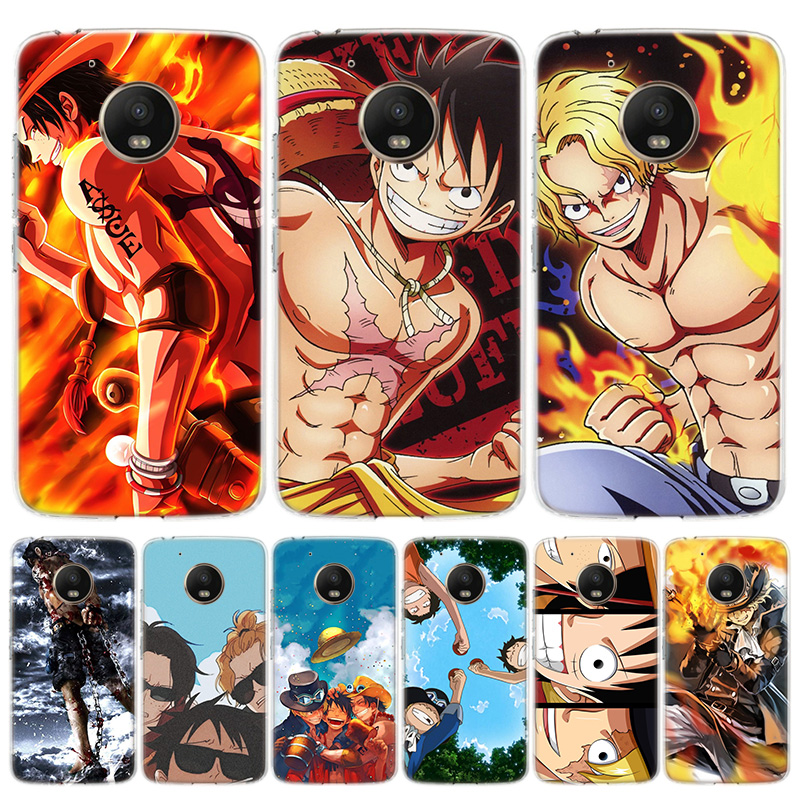 Anime One Piece Ace Sabo Phone Case For Motorola Moto G8 G7 G6 G5S G5 G4 E6 E5 E4 Plus Play Power + One Action Macro EU Art Cove