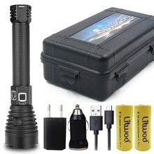 XLamp XHP90 Z351909 มากที่สุดที่มีประสิทธิภาพไฟฉาย LED ยุทธวิธีไฟฉาย 26650 หรือ 18650 แบตเตอรี่ & Xhp70.2 LED หลอดไฟ