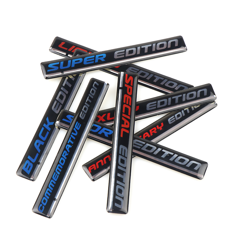 Image 4 - Car styling 2Pcs  limited EDITION Emblem Epoxy Car Sticker Blue/Red Retro reflective Decal For BMW Honda Toyota Suzuki-in Car Stickers from Automobiles & Motorcycles