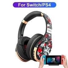 Écouteurs Bluetooth sans fil avec micro, pour PS4, PS5, Nintendo Switch, casque de Gaming, avec émetteur, avec adaptateur Aux