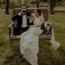 Женское свадебное платье fariy в стиле бохо простое кружевное