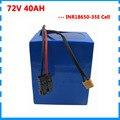 3000 Вт 72В 40ah аккумулятор 72В Электрический велосипед литий-ионный аккумулятор для samsung 35E с 50A BMS и 4A зарядным устройством