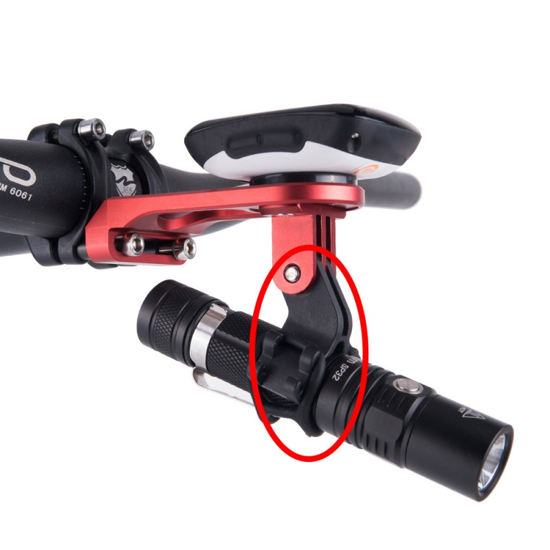 Bicycle Light Torch <font><b>Flashlight</b></font> Holder Clip Mount Bracket <font><b>for</b></font> Road <font><b>Bike</b></font> Cycling Part Adjusted Compatible with Gopro Camera MountX image