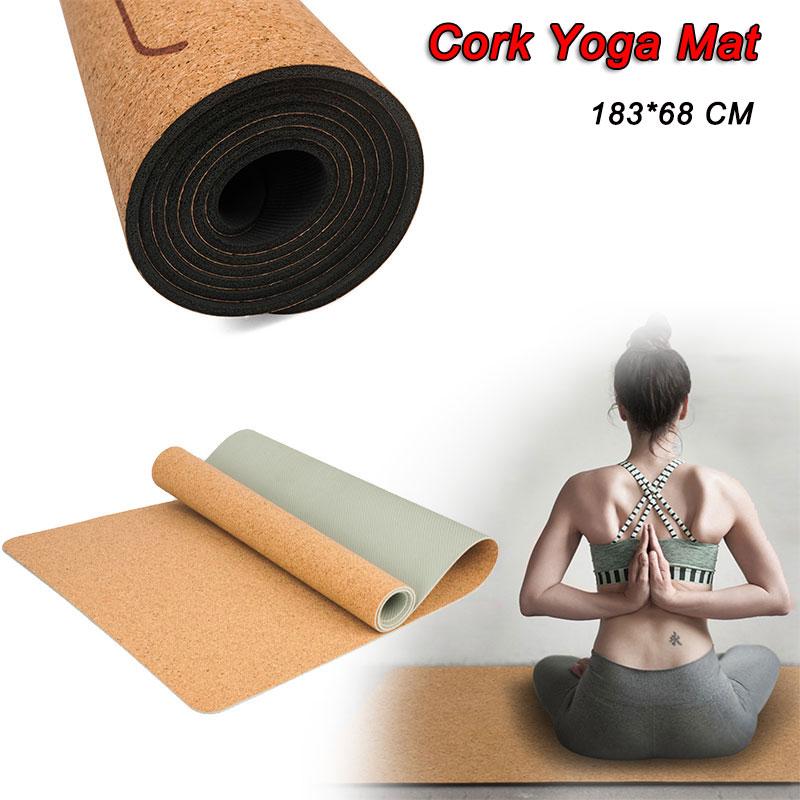 5mm Non Slip Natural Cork Tpe Women Yoga Mat Fitness Men Gym Sports Mats Pilates Exercise Pads Yoga Mats Absorb Sweat Odorless Yoga Mats Aliexpress