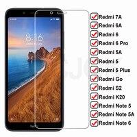 Vidrio Templado HD 9H para Xiaomi Redmi 7A 6A 5A Go S2 K20, Protector de pantalla Redmi 5 Plus, Note 5 5A 6, película protectora Pro