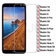 9H verre trempé HD pour Xiaomi Redmi 7A 6A 5A Go S2 K20 protecteur d'écran verre Redmi 5 Plus Note 5 5A 6 Pro étui de Film de protection