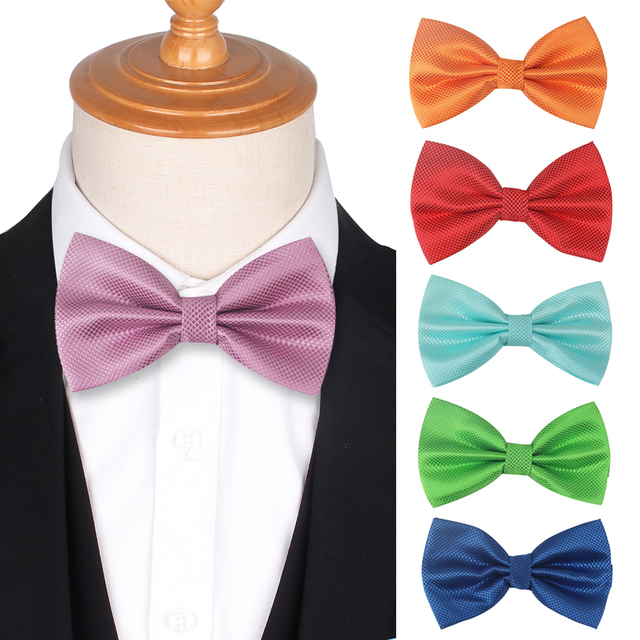 Candy Color Bowties for Men Women Solid Bow tie Adjustable Classic Suits Bow ties For Wedding Bow ties Butterfly Cravat
