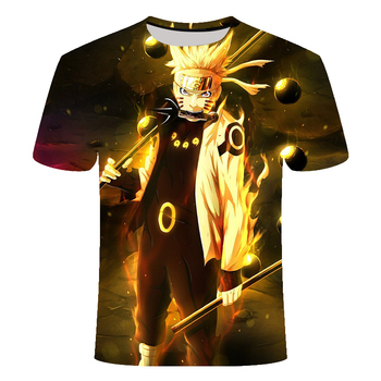 Latest Cool Anime Pattern Tops tee Men Fashion Tee 2020 T-shirt Summer Newest 3D Print Naruto Printing - discount item  45% OFF Tops & Tees