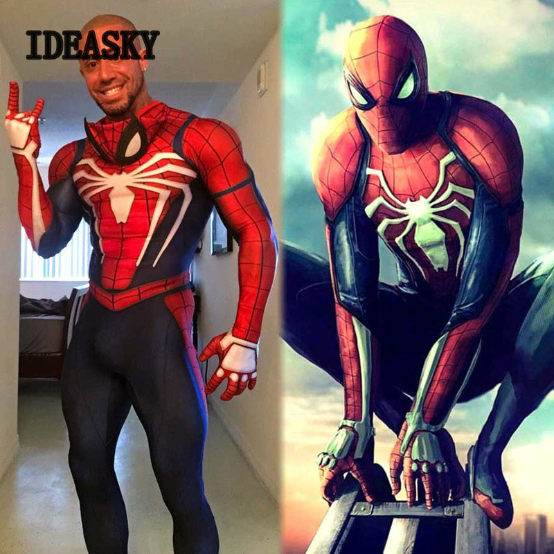 high quality spiderman ps4 costume cosplay suit game ps4 insomniac scarlet spider man spider man 2099 symbiote homecoming adult-in Movie & TV costumes from Novelty & Special Use    1