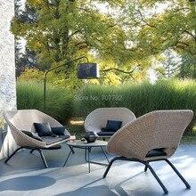 Плетеная для патио садовые наборы открытый гостиной диван гостиной набор мебели распродажа