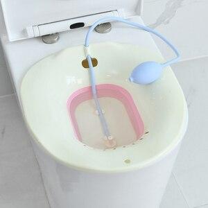 Image 4 - 1 pieza plegable yoni desintoxicación asiento de vapor Sitz cuenco de baño Hip Bath vaporizador Vagina ducha Kit olla Vagina herramienta de limpieza para mujer