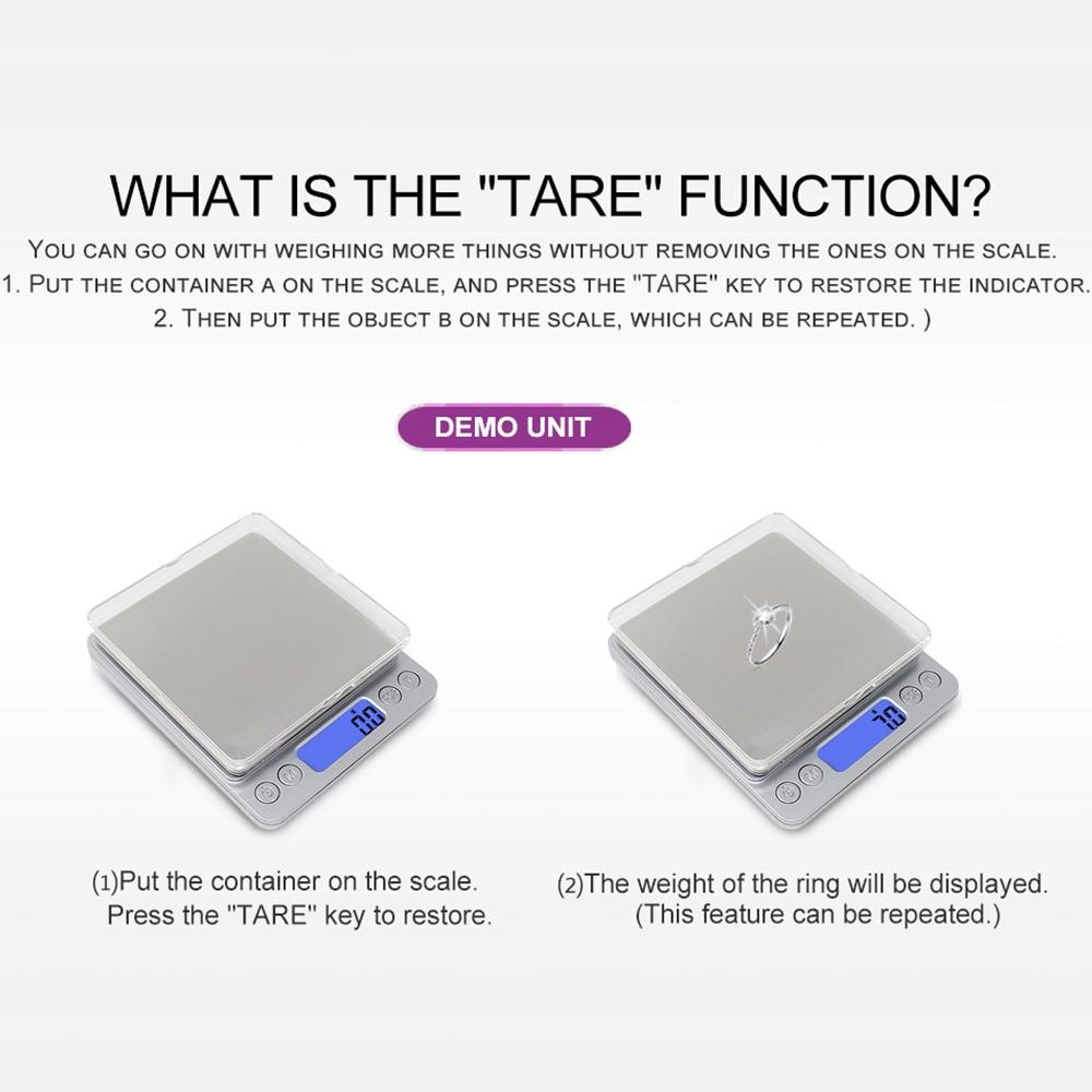 Báscula de cocina digital Básculas de joyería 3 kg 0.1g 500g 0.01g - Instrumentos de medición - foto 4